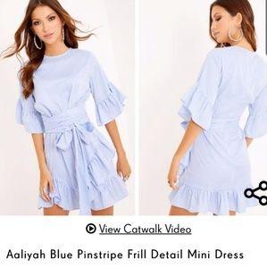 NWT BLUE/WHITE STRIPE DRESS